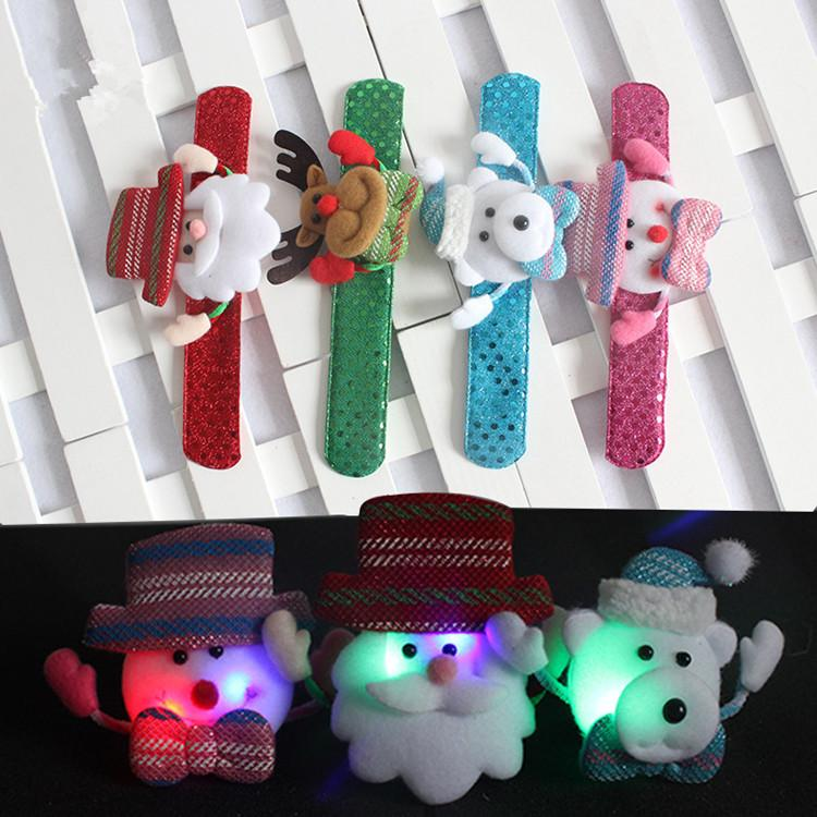 christmas gifts childrens toys christmas bracelets santa clap ring snowman elk pop ring will shine clearance christmas decorations commercial christmas