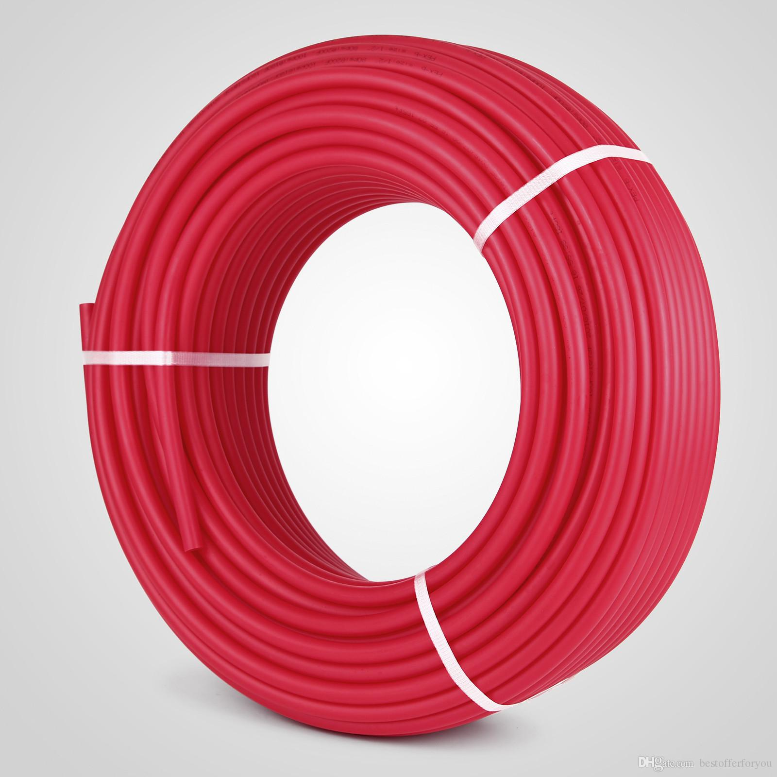 300ft Pex Tubing Pipe Non-Barrier Pex Tubing Pex Pipe Red Radiant Floor  Heat For Water Plumbing 1 ROLL RADIANT PIPING Applications