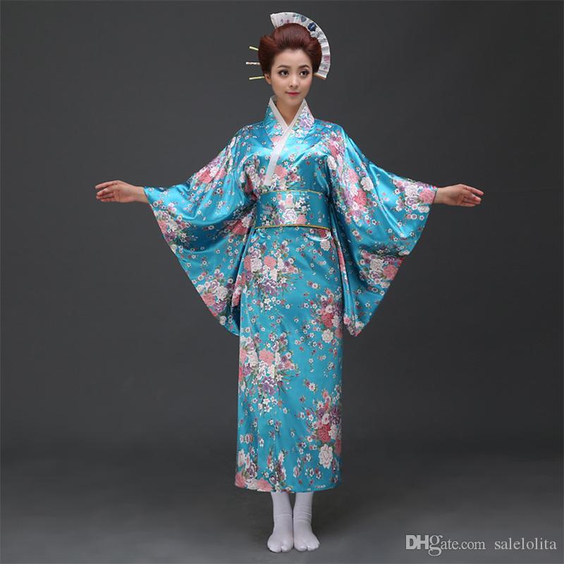 Acheter Date Japonais Femmes Kimono Yukata Kimonos Traditionnel Femme  Floral Imprimé Peignoir Japonais Vêtements Anciens Costume De  42.64 Du  Salelolita ... e1777f74046