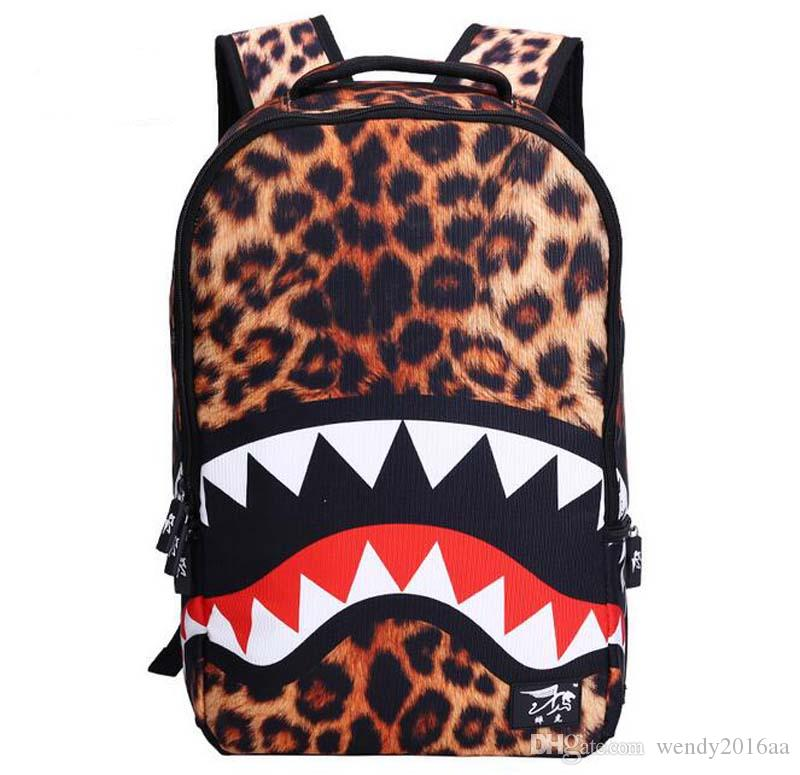 2017 New Shark Anime Cartoon Cosplay Movies Backpack Travel School College Daypack Shoulder Bag For Girl Boy