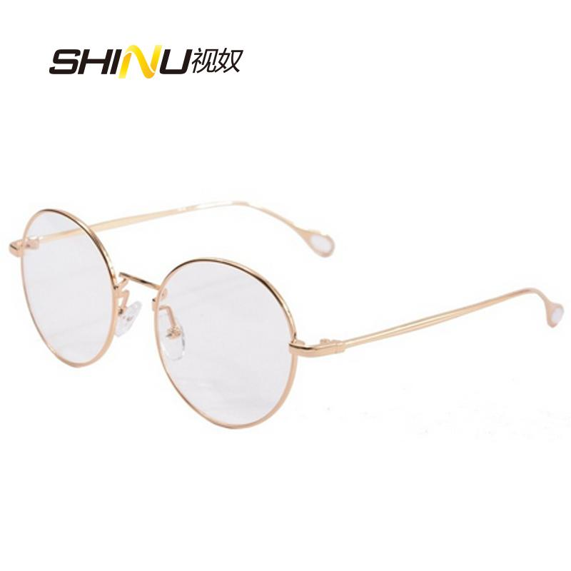 304e4b41cab64 Wholesale- Round Metal Eyeglass Frames Women Glasses Men Round Gold Glasses  Frames Vintage Prescription Lense Plain Glass 2757 Plain Glass Glasses Frame  ...