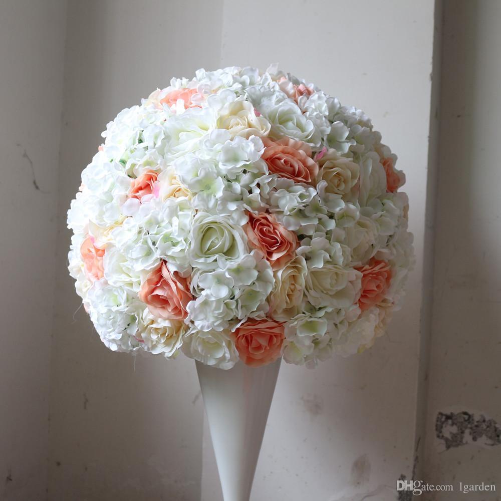 Großhandel Hochzeit Straße Blei Ball Künstliche Blumen Hochzeit Dekoration Tisch  Herzstück Dekoration 2/3 Runde Blume Ball 50cm Von Lgarden, $101.51 Auf De.
