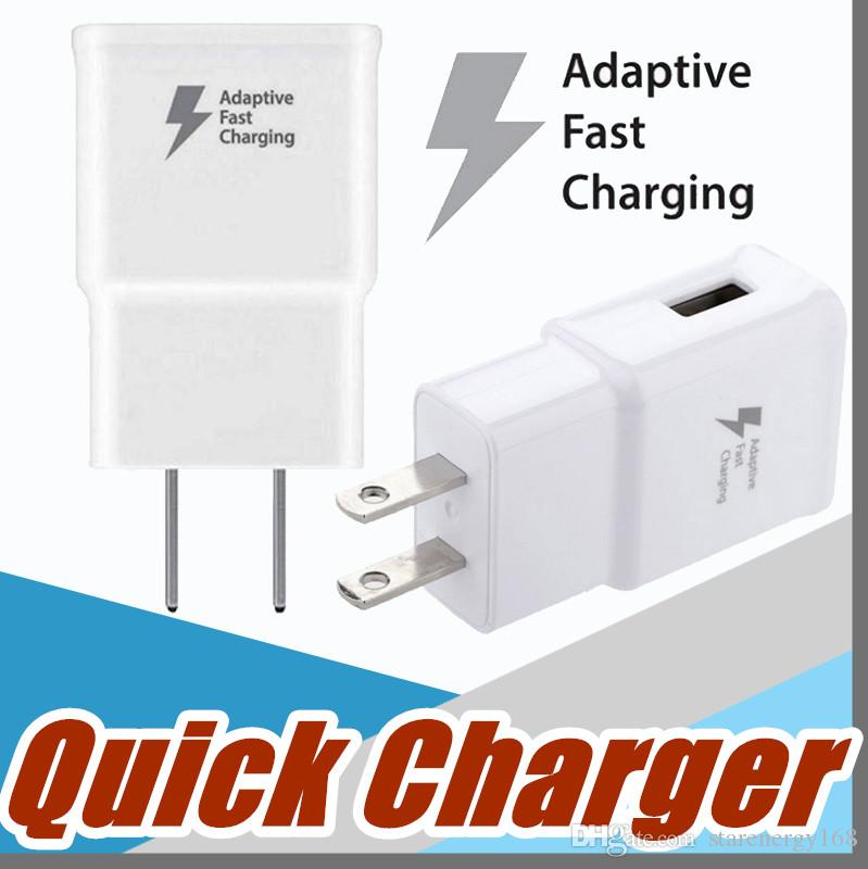 Top Quality 5v 2a 9v 1 67a Adaptive Fast Charging Travel Wall Charger For Galaxy S6 S7 S8 Edge Plus Note 3  F Sc Adaptive Charger Fast Charging