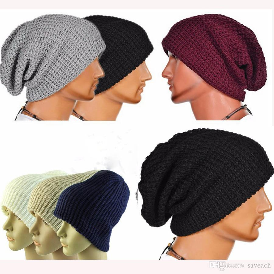 2016 Hot Sales Fashion Women Men Winter Warm Knitted Caps Crochet Skull  Beanie Hat Caps Mens Beanie Hats Warm Knitted Caps Fashion Beanie Hat Caps  Online ... 4cfa7236f08