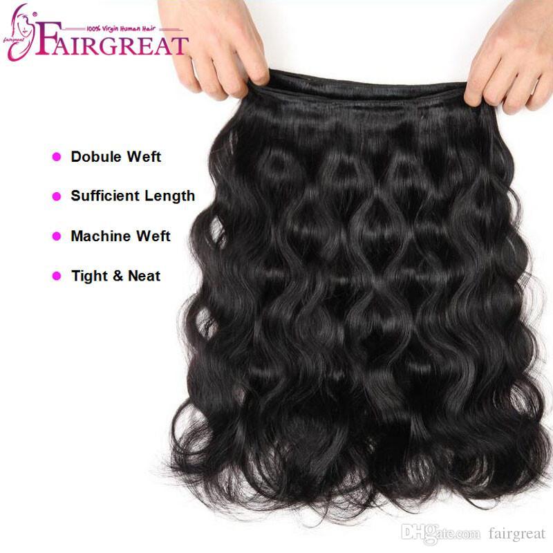 Bundles brasiliani dei capelli dell'onda del corpo con le estensioni brasiliane dei capelli 3Bundles della chiusura con chiusura dei capelli umani brasiliani con chiusura del pizzo