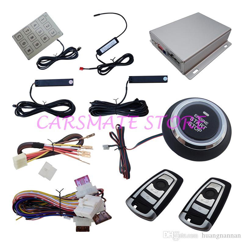 2018 universal pke car alarm smart key remote passive lock or unlock engine remote start. Black Bedroom Furniture Sets. Home Design Ideas