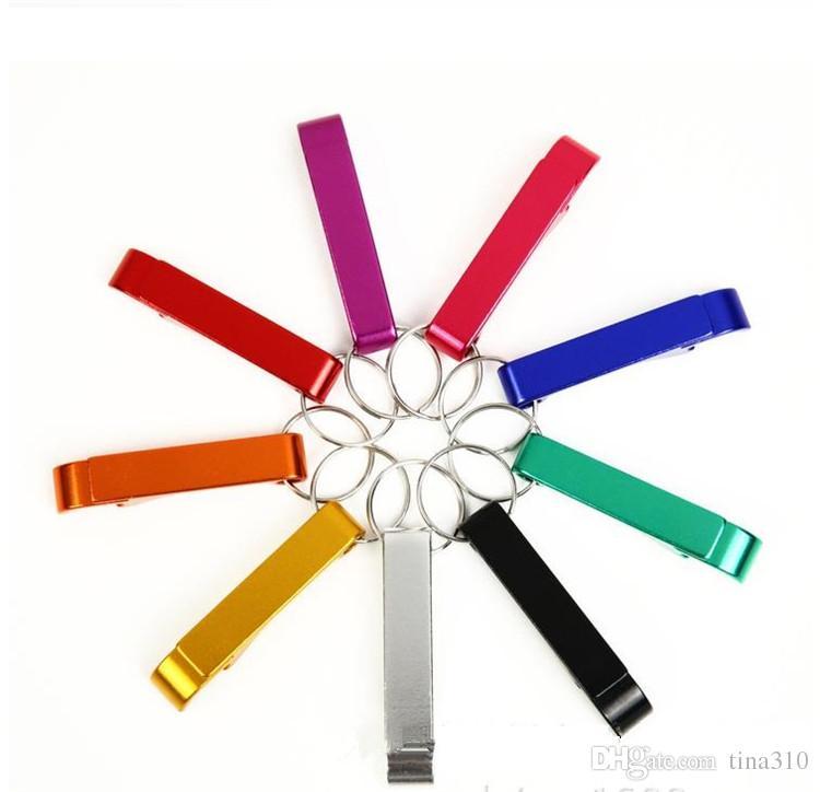 Nuovo metallo in lega di alluminio portachiavi portachiavi anello con apribottiglie birra personalizzato, incisione laser apribottiglie