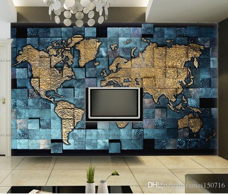 Customized size european style 3d world map photo mural wallpaper customized size european style 3d world map photo mural wallpaper for living room study room abstract art decor wallpaper desktop backgrounds wallpapers publicscrutiny Images