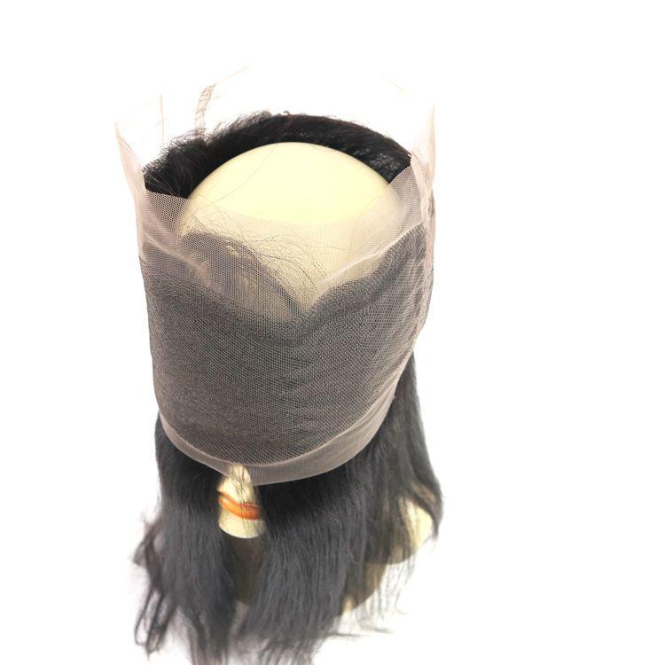360 레이스 정면 전체 레이스 클로저 버진 브라질 인간의 머리 자연의 헤어 라인 스트레이트 페루 인도의 말레이시아 머리카락 확장