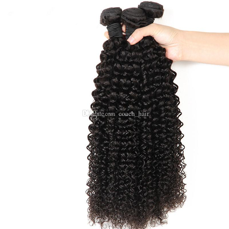 360 Full Lace Band Frontal Closure With Bundles Virgin Indian Kinky Curly Human Hair Weaves With Pre Plucked 360 Lace Band Frontals