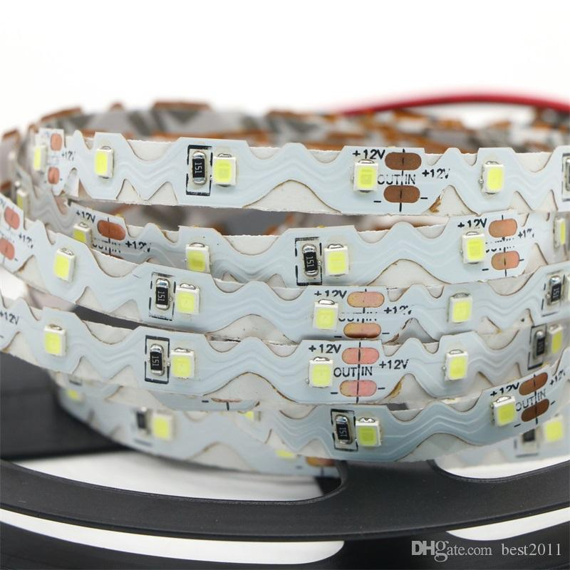 S Shape SMD 2835 LED Strip Light 60LEDs/M Non-Waterproof Flexible LED Strips High Quality Chip Long Lifespan Design