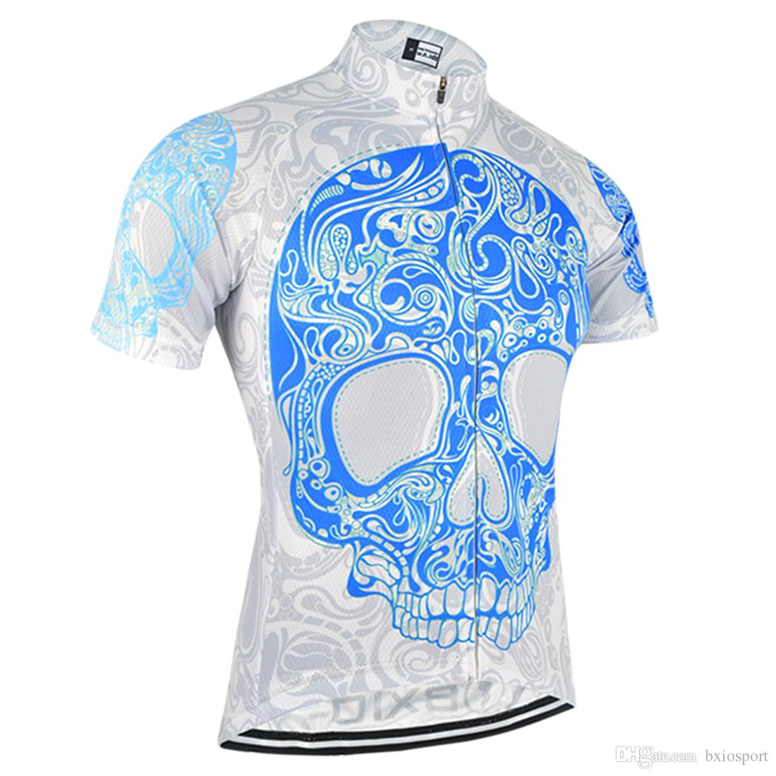 Bxio Brand Skeleton Pattern Cycling Jersey Short Sleeve Bicycle Clothing 3  Rear Pockets Ropa Ciclismo Patrón De Esqueleto Verano Bx 104 Bicycle T  Shirts ... a86a72a2a