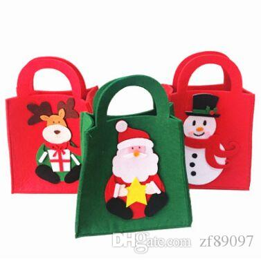 27x8x20cm felt cloth christmas bags gift bag christmas gift bags christmas gift decoration christmas gift wrap christmas bag online with 8525piece on