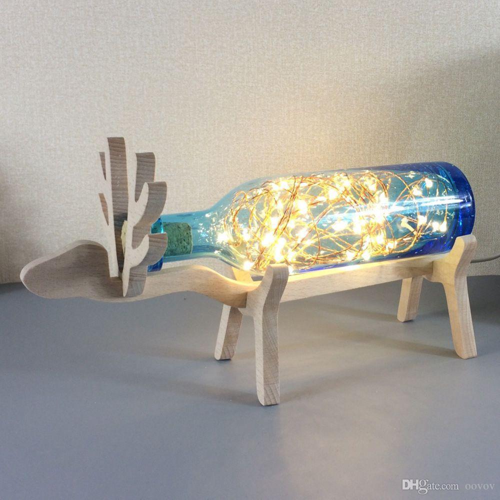 2019 Creative Wood Elk Bedsides Table Lamp Bedroom Glass Desk Lamps Kids  Room Desk Lights Birthday Present Best Gift From Oovov, $70.36 | DHgate.Com