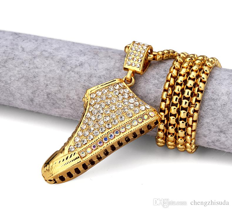 necklaces s men sparking bling accessories chain pharaoh in jewelry necklace item from shape pendant polish high big on gold