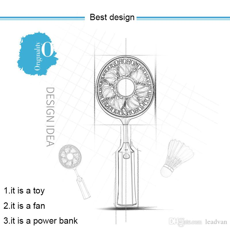 Sport Hand Held Mini Fans USB Fan for Gift Outdoor Portable Air Cooler Conditioning for Home Rechargeable Ventilador with 1200MA Battery