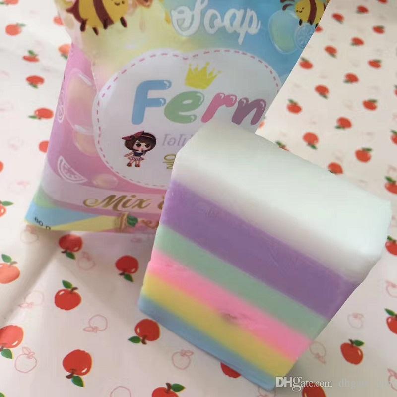 Ankünfte OMO White Plus Soap Früchtenseife Mix Color Plus Five Gebleichte weiße Haut 100% Gluta Rainbow Soap