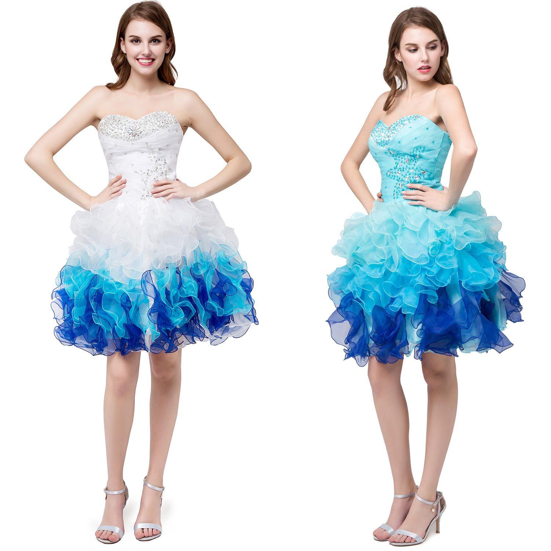 Vestidos De Fiesta Cortos Party 2017 Sweetheart Short Mini Homecoming Cocktail  Dresses Beaded Organza Short Prom Gowns Mini Cocktail Dresses Short Prom ... 52531aa50