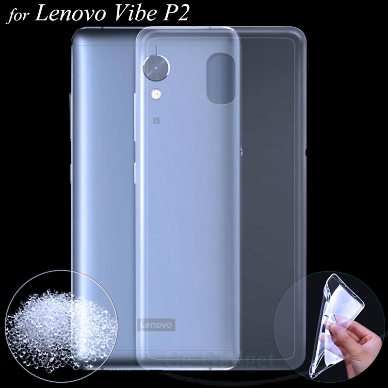 outlet store 54e29 7fdad Wholesale- Lenovo P2 Case , Transparent Clear Soft TPU Gel Skin for Lenovo  Vibe P2 5.5 inch Phone s Protective Silicone Back Cover