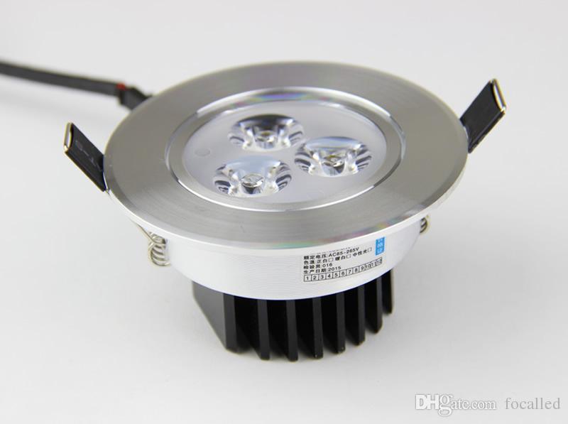 Foco LED 9W CREE Foco empotrable LED Lámpara de techo regulable Blanco frío Blanco cálido Para iluminación del hogar AC110V 220V 12V con controlador