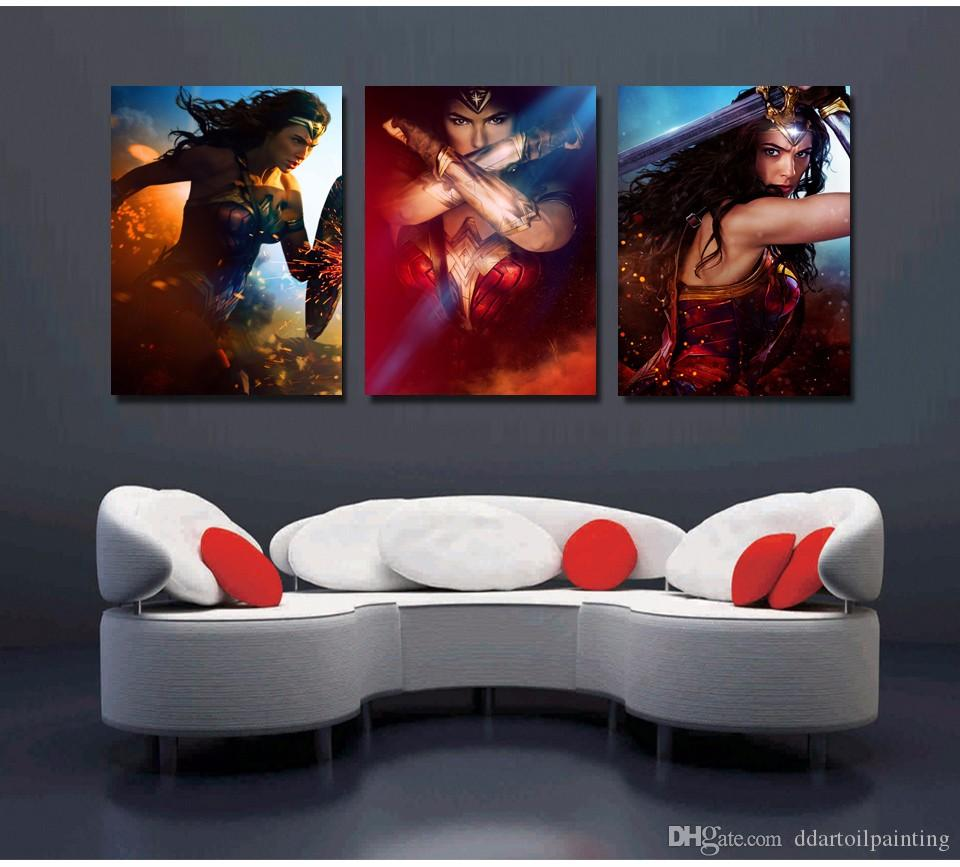 Wholesale Modern Famous Movie Poster Beautiful Woman Figure Painting Pictures for Home Decoration New Style Artwork Unframed