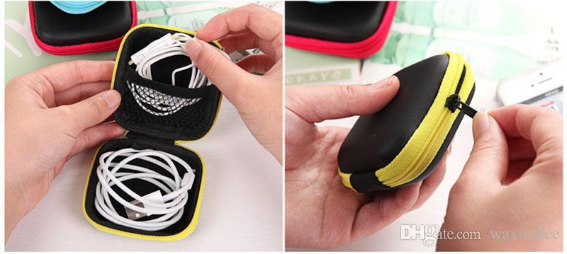 Custodia portatile auricolari Custodia rigida auricolari con custodia rigida con cerniera Mini Custodia auricolari con custodia rigida SD