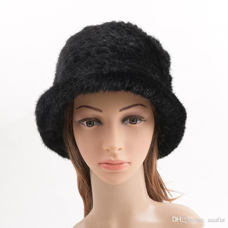 4b82833d954fd3 ... Winter Hats Women Real Fur Hat Cap Fur Headdress Warm Beanies Fashion  Female Cap Hats Headgear; Unisex Embroidered Dome Hat Wool Knitting ...