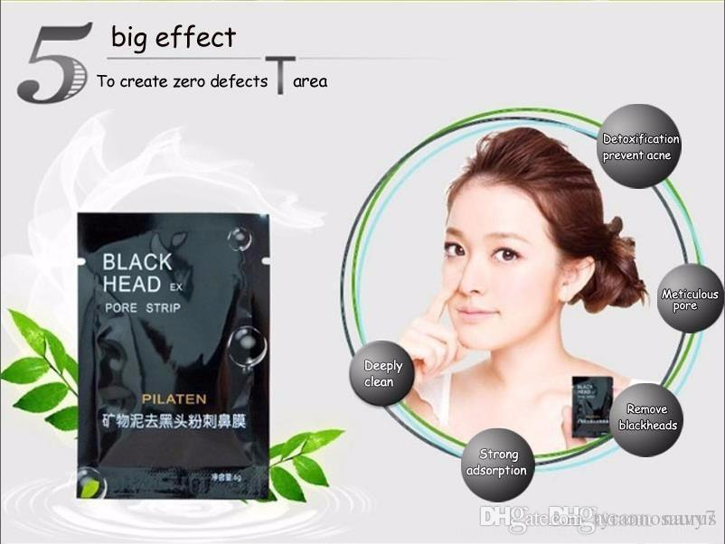 PILATEN Facial Minerals Conk Nose Blackhead Remover Mask Pore Cleanser Nose Black Head Pore Strip for nose Close pore