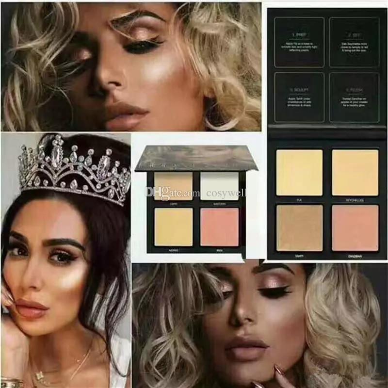 2017 hot Brand 3D highlighter palette gold pink sands edition makeup Highlighters Bronzers DHL