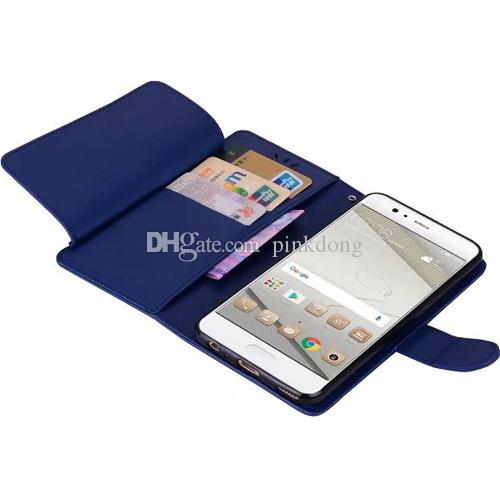 Gorgeous diary book wallet photo frame flip leather case cover skin for Huawei P8 Lite and P8 Lite 2017