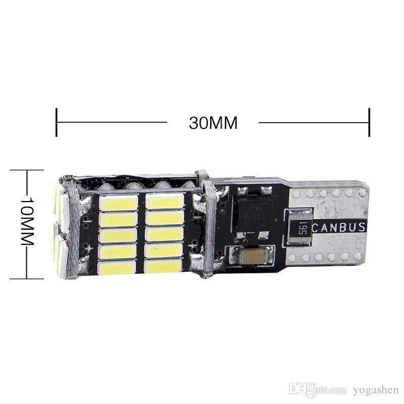 Top Quality High Power T10 w5w Led 12V Xenon White 26 ledCar Light Fog Lamp Interior Light w5w T10 Canbus Error Warning Free
