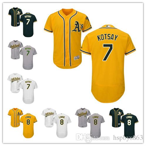 timeless design f1b72 fa649 coupon for mlb jerseys oakland athletics 8 jed lowrie yellow ...