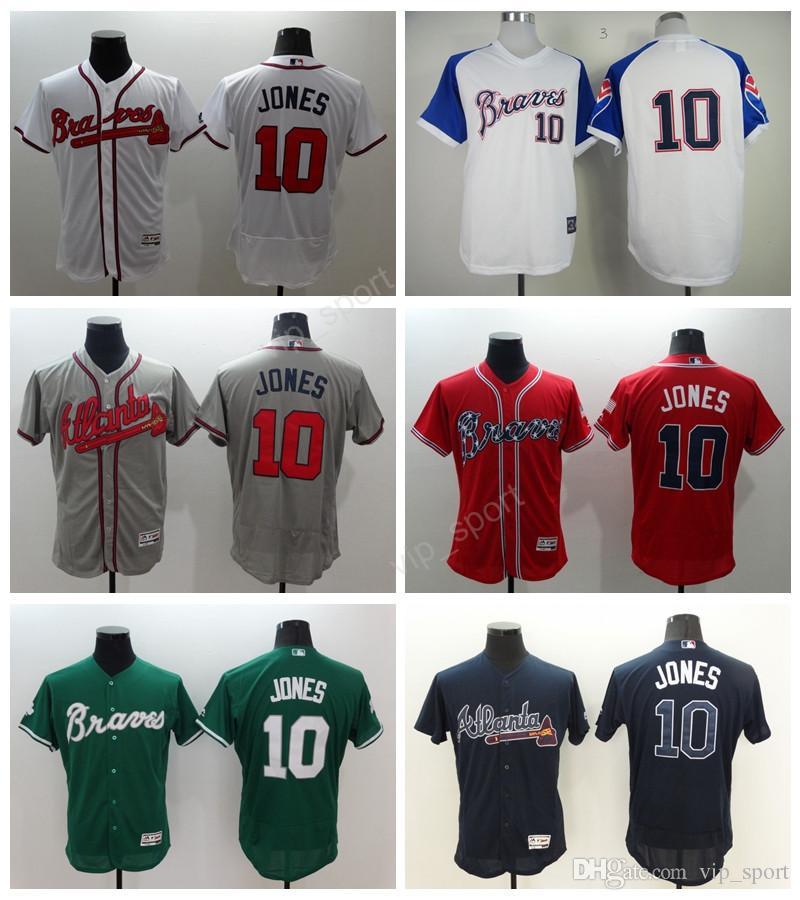 04669bbe9 canada 2017 cheap throwback baseball jerseys atlanta braves 10 chipper  jones jersey men flexbase pullover cool