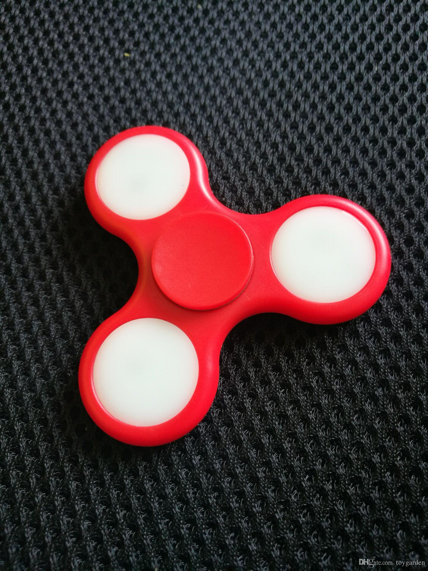 sell LED Light Hand Finger Spinner Fidget Plastic EDC Hand Spinner For Autism And ADHD Relief Focus Anxiety Stress Toys Gift #E