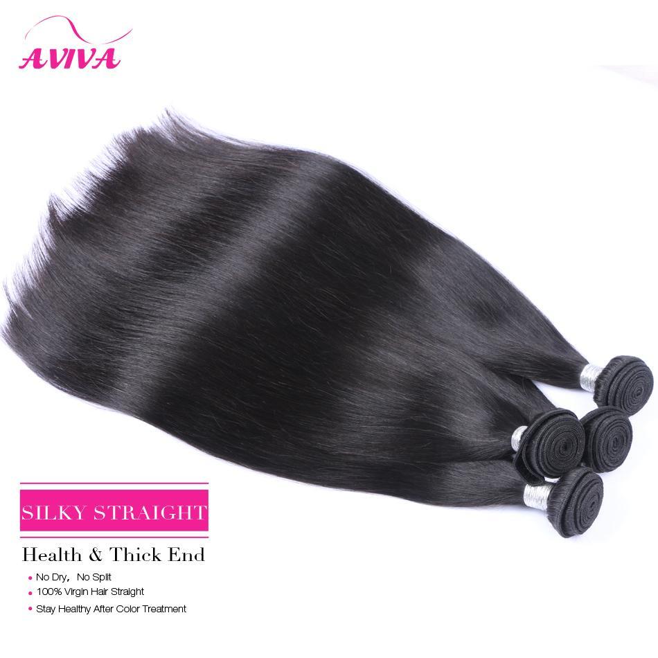 Malezya Düz Bakire Saç 100% İnsan Saç Dokuma Paketler 3/4/5 Adet Işlenmemiş Malezya Remy İnsan Saç Uzantıları Doğal Renk Boyanabilir