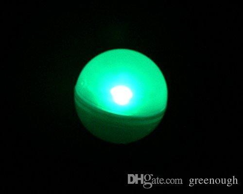 12 قطع 2 سنتيمتر الجنية اللؤلؤ بطارية تعمل البسيطة وميض الصمام الخفيفة العائمة led الكرة غاطسة ضوء ل حفل زفاف الديكور