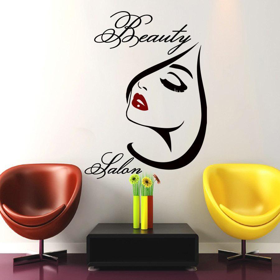 Compre Salón De Belleza Sexy Girl Tatuajes De Pared Diy ...