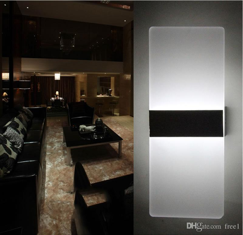 Modern LED Wall Lamps Sconces Aluminum Reading Lights Fixture Decorative Night Light for Pathway Staircase Bedroom Bedside Lamp