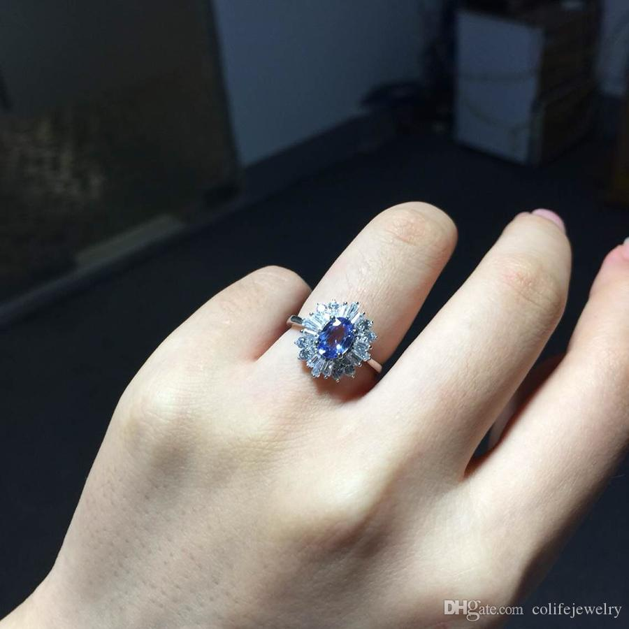 silver products size real sterling ring boho in set style genuine tanzanite