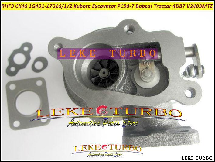 TURBO RHF3 CK40 VA410164 1G491-17011 1G491-17012 1G491-17010 Turbocharger For Kubota Excavator PC56-7 Bobcat Tractor 4D87 V2403-M-T-Z3B (6)