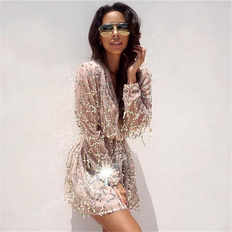 2018 Wholesale 2016 Sexy Short Plus Size White Dress Kleider Sequin ...