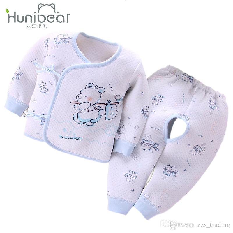 f3a1650a80464 2019 2017 Newborn Baby Sets Autumn Winter 0 3 Months Baby Girls Clothes New  Born Boys Clothing Long Sleeves Tops+Long Pants Infant Underwear From ...