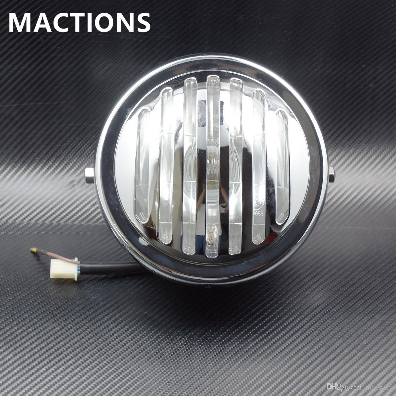 2019 7 Vintage Motorcycle Chrome All Metal Glass Grille Headlight