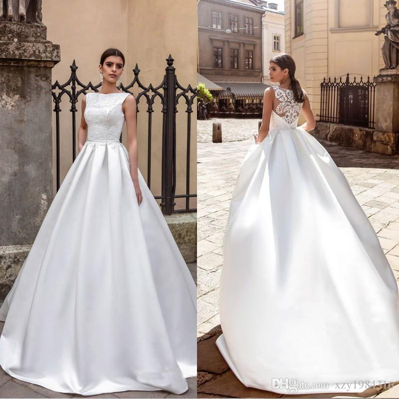 Discount 2017 Crystal Design Collection Wedding Dress Bateau Neck ...