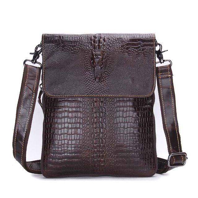 e5e632cd1c5 Fashion Designer Genuine Leather Crossbody Bags For Men High Quality  Handmade Crocodile Leather Small Shoulder Bag Leather Backpack Purse  Handbags For Sale ...