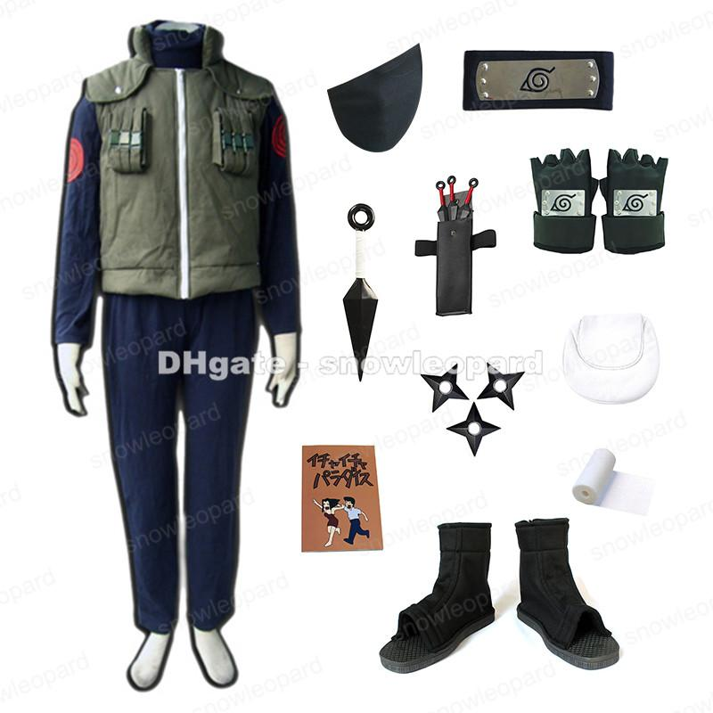 Naruto Hatake Kakashi Cosplay Costume Set Vest Pants Shoes Mask Notebook Weapons Adult Costumes Sydney Easy Cosplay Costumes For Men From Snowleopard ...  sc 1 st  DHgate.com & Naruto Hatake Kakashi Cosplay Costume Set Vest Pants Shoes Mask ...