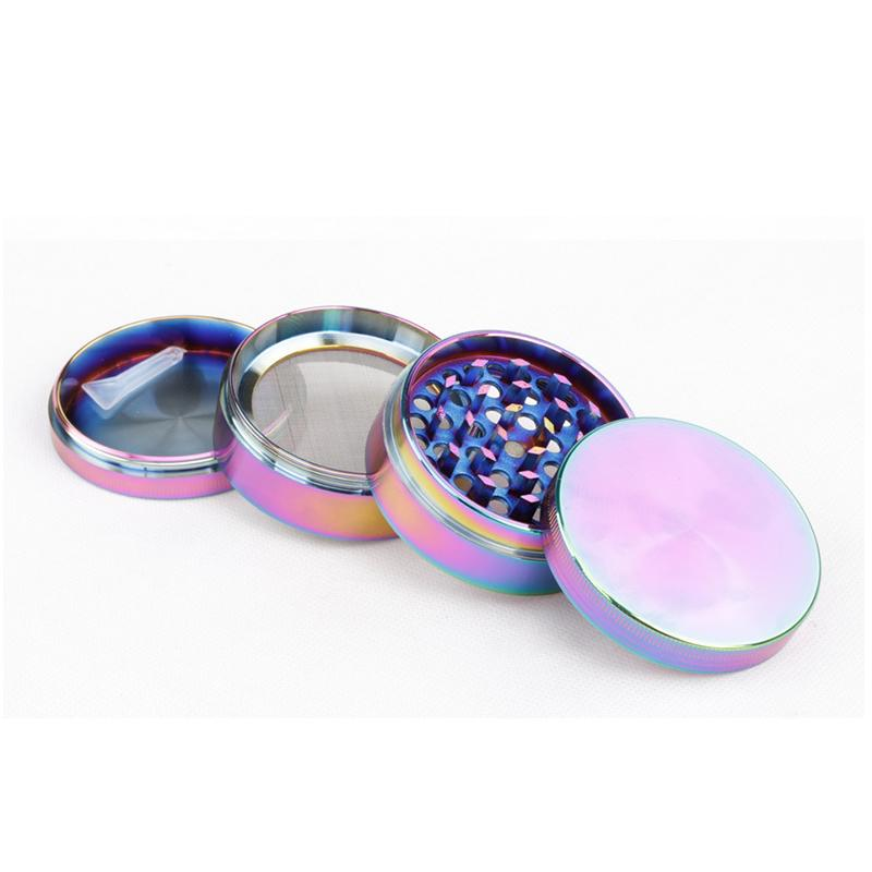 Beautiful 40/50/55/63mm Rainbow Grinder 4 Parts Grinder Zinc Alloy Tobacco Herb Grinder fit twisty glass blunt 0266135-1