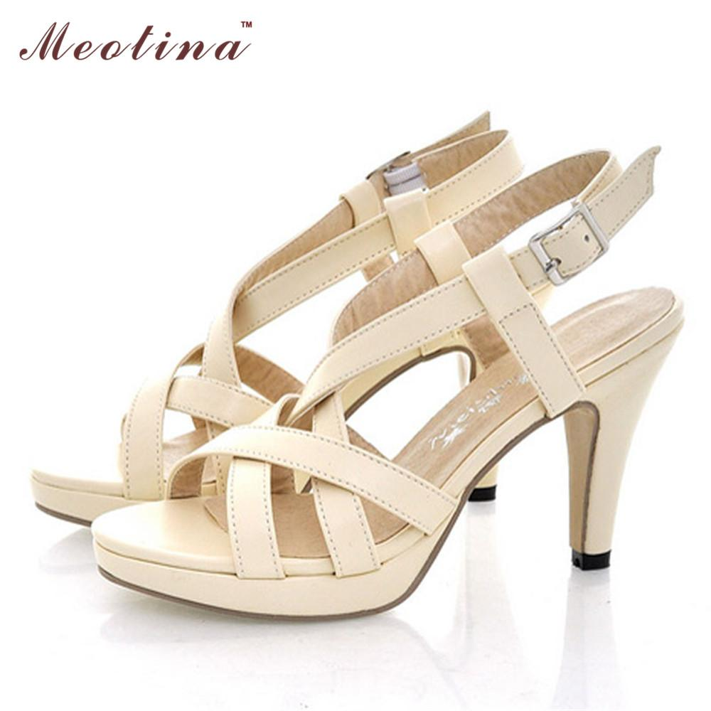 71c7b29dfe4cf8 Wholesale Meotina Women Sandals Gadiator Sandals Women Summer Platform  Sandals Big Size 10 9 42 High Heels Female Cutout Pink Ladies Shoes  Designer Shoes ...