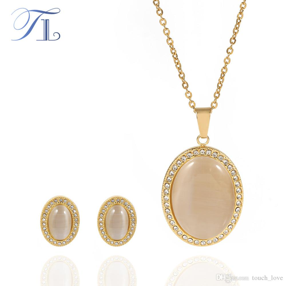 TL Brown Cat Eye Golden Jewelry Set For Women Stainless Steel Made Oval  Zircon Surface New Jewelry Set Anniversary Jewelry Sets UK 2019 From  Touch love af1b35503d