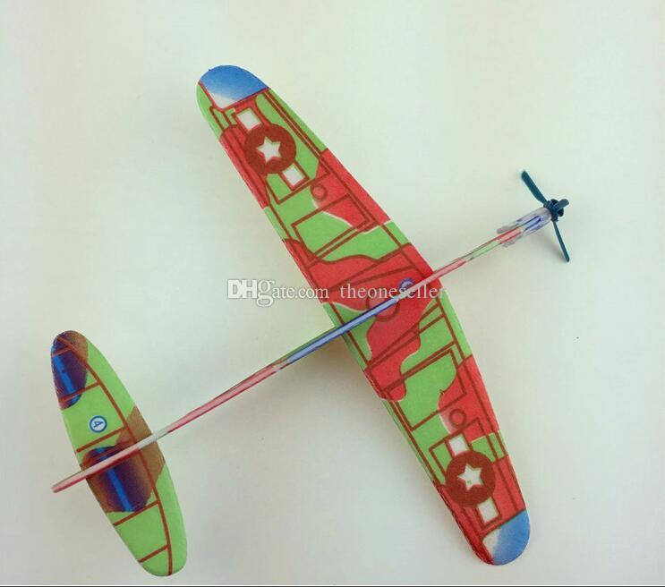 2017 new children brain game toys Glider model DIY Hand throws Aircraft model for baby toys C2041